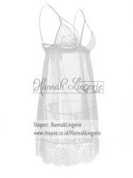 Lingerie Wanita Seksi Lingerie Putih Big Size Premium Ukuran Besar S M L XL XXL Transparan