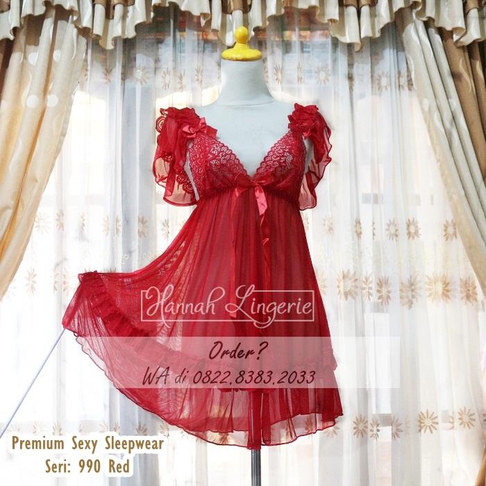 Premium Sexy Sleepwear Seri 990 Red